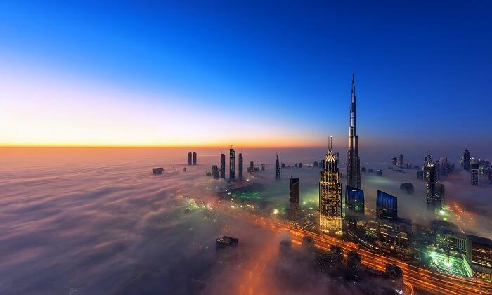درجة الحرارة دبي